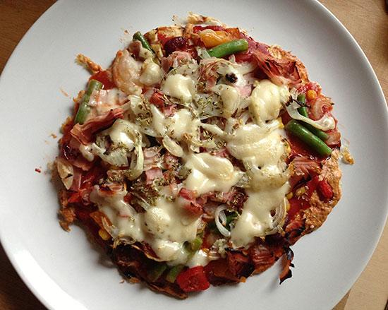 Putenfleisch Pizza